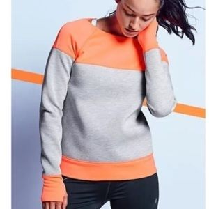 ATHLETA XS FUSE Sweatshirt Gray Orange Act…